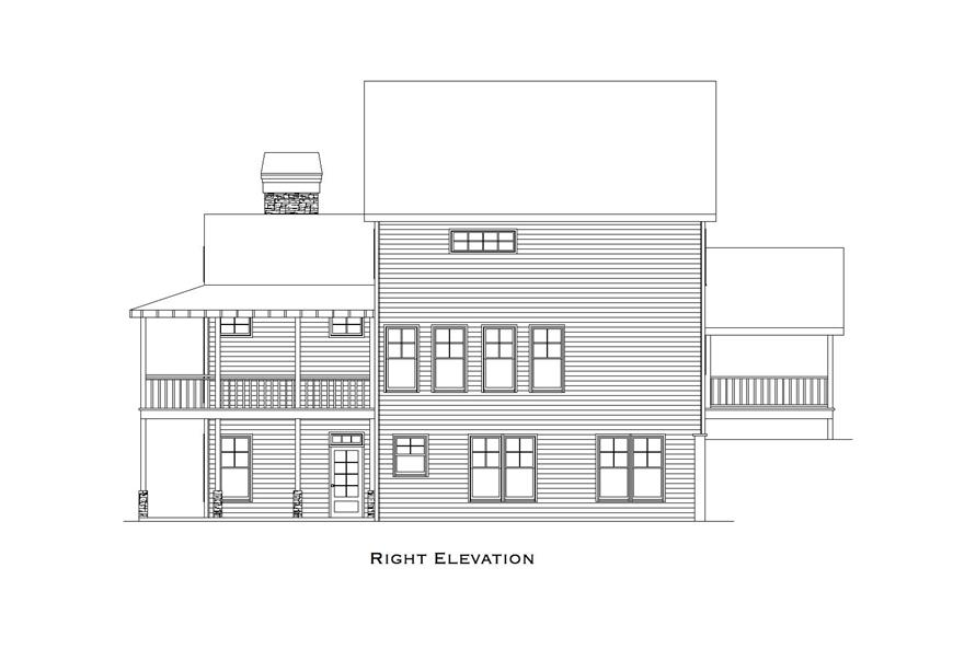 163-1061: Home Plan Right Elevation