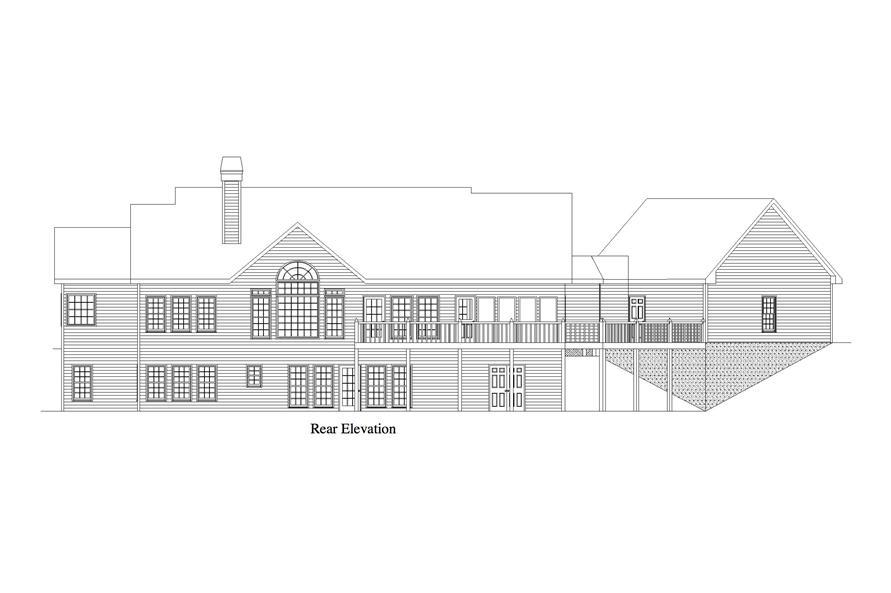 163-1062: Home Plan Rear Elevation