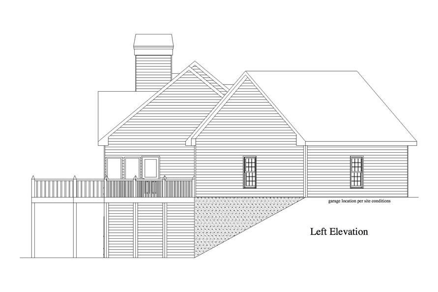 163-1062: Home Plan Left Elevation