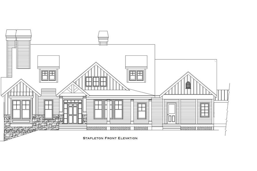 163-1063: Home Plan Front Elevation