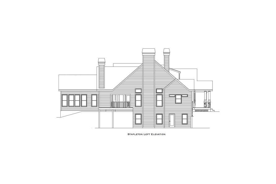 163-1063: Home Plan Left Elevation