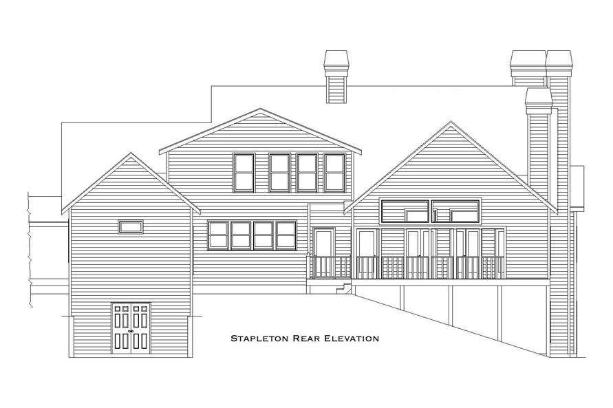163-1063: Home Plan Rear Elevation