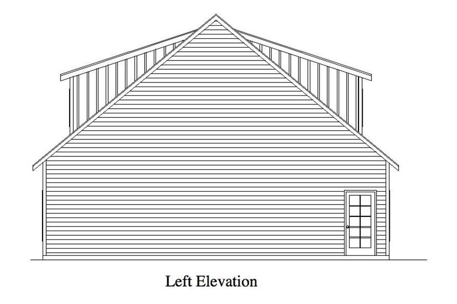 163-1064: Home Plan Left Elevation