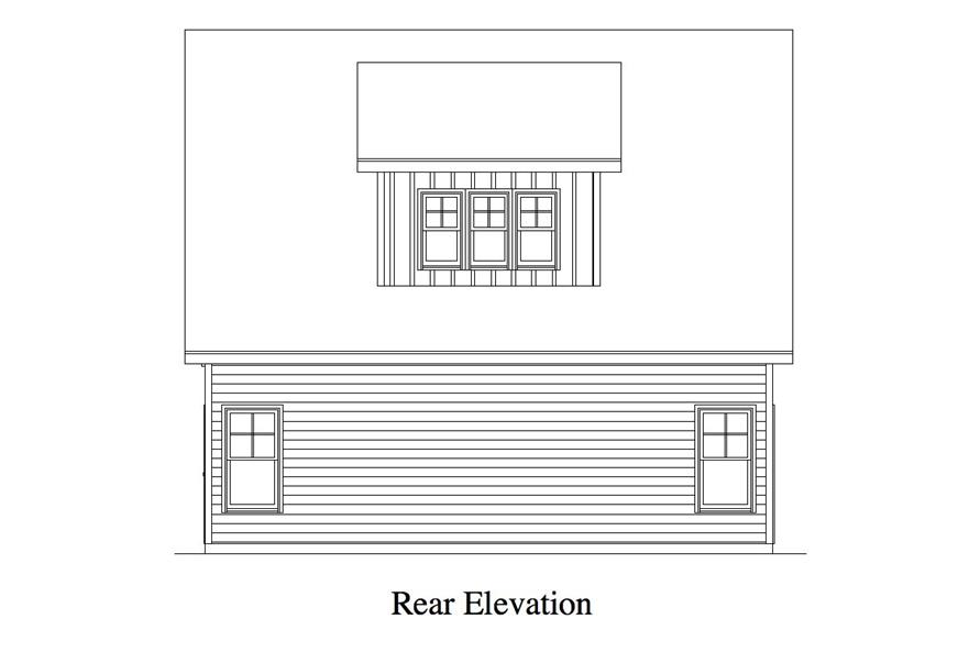 163-1064: Home Plan Rear Elevation