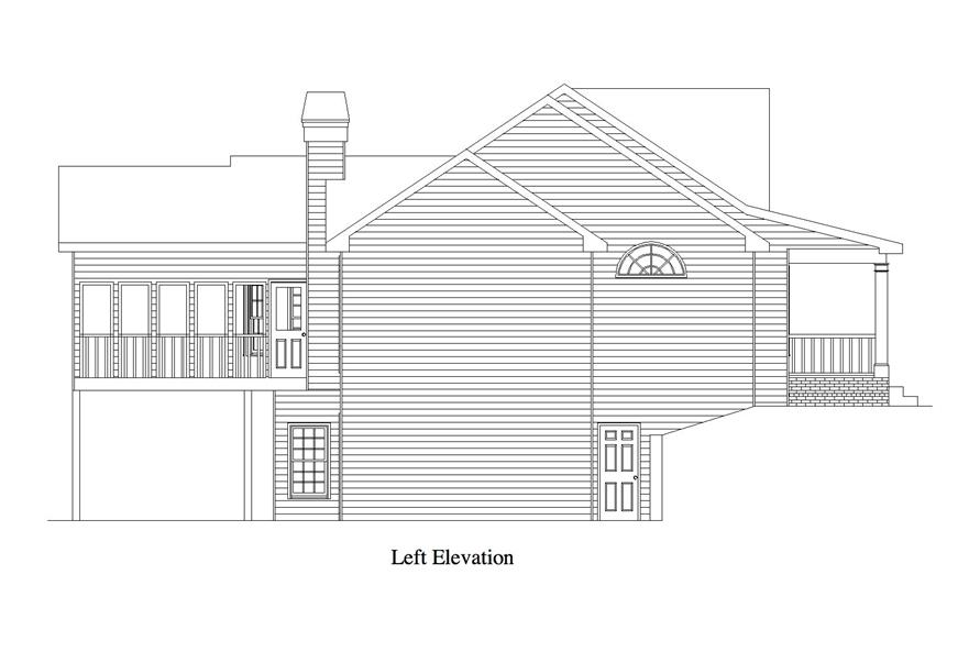 163-1065: Home Plan Left Elevation