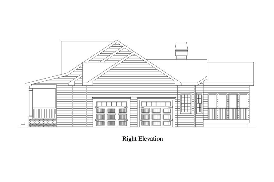 163-1065: Home Plan Right Elevation
