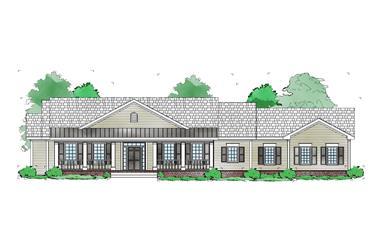 3-Bedroom, 1448 Sq Ft Ranch Home Plan - 163-1065 - Main Exterior