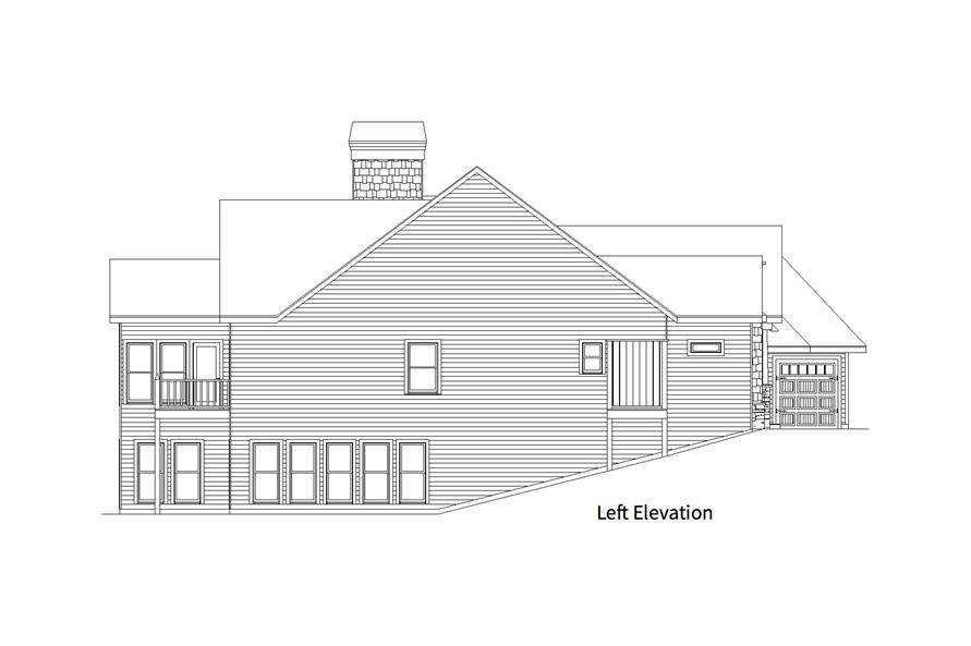 163-1066: Home Plan Left Elevation