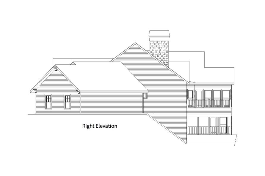 163-1066: Home Plan Right Elevation