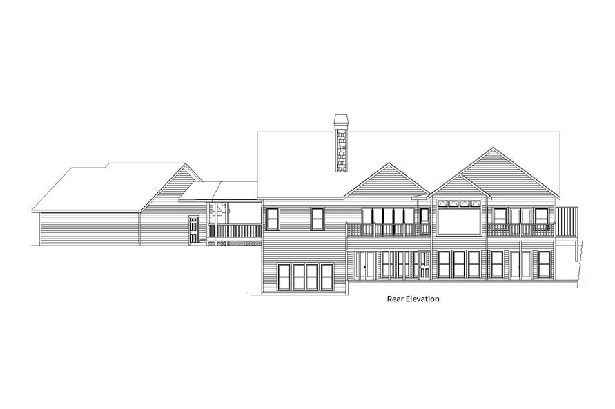 163-1066: Home Plan Rear Elevation