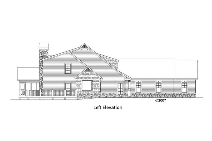 163-1067: Home Plan Left Elevation