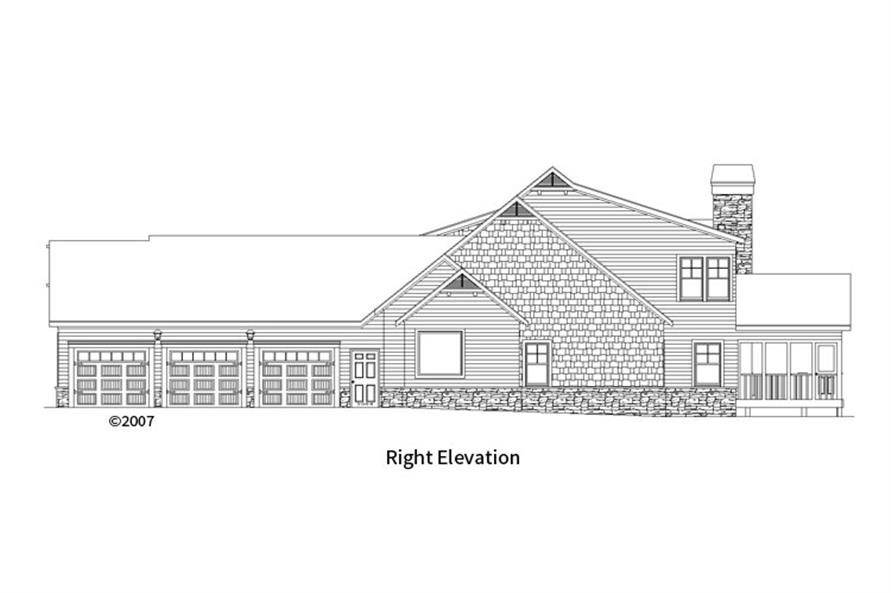 163-1067: Home Plan Right Elevation