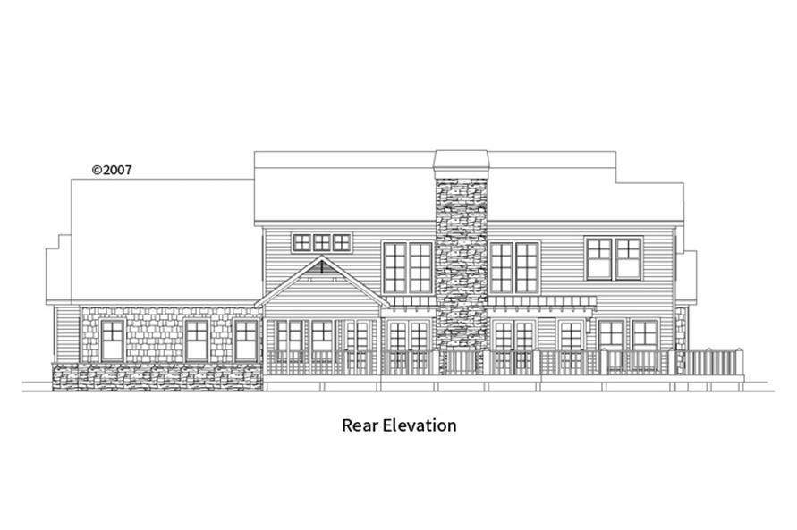 163-1067: Home Plan Rear Elevation