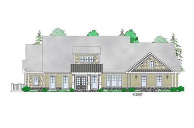4-Bedroom, 3639 Sq Ft Craftsman Home Plan - 163-1067 - Main Exterior