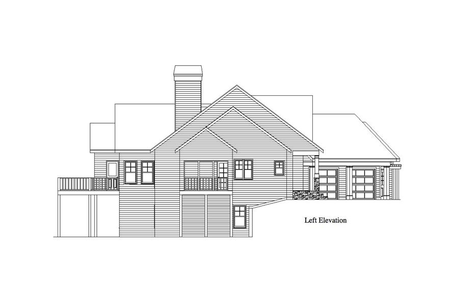 Home Plan Left Elevation of this 1-Bedroom,1832 Sq Ft Plan -163-1068