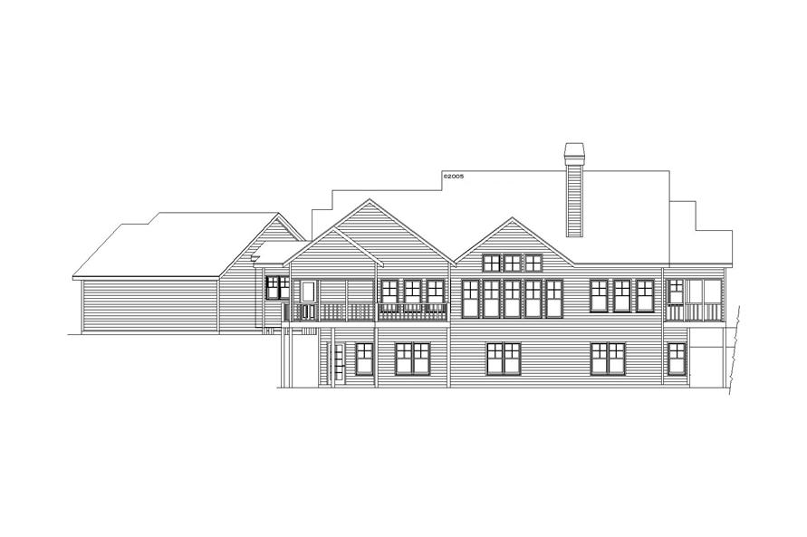 163-1068: Home Plan Rear Elevation