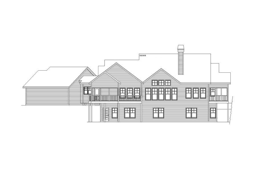 163-1068: Home Plan Rear Elevation