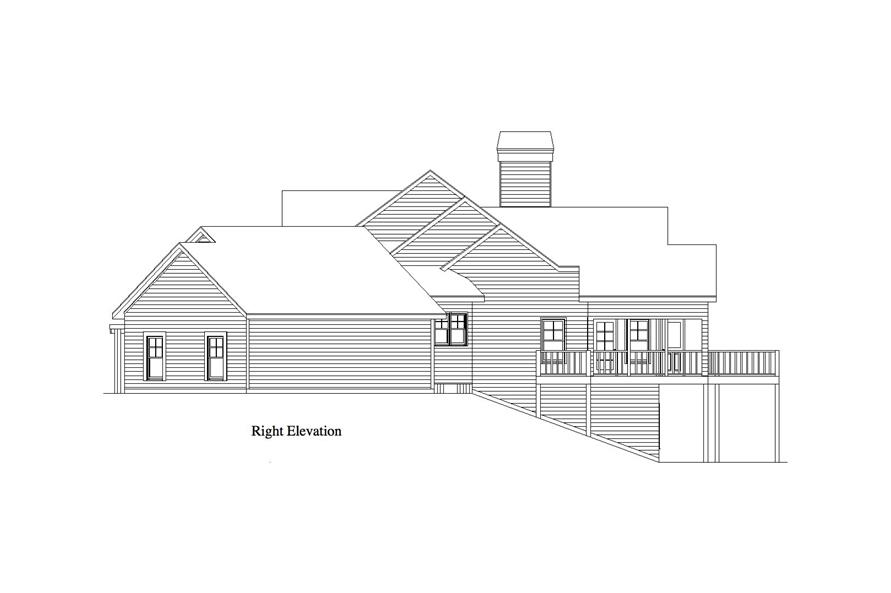 Home Plan Right Elevation of this 1-Bedroom,1832 Sq Ft Plan -163-1068