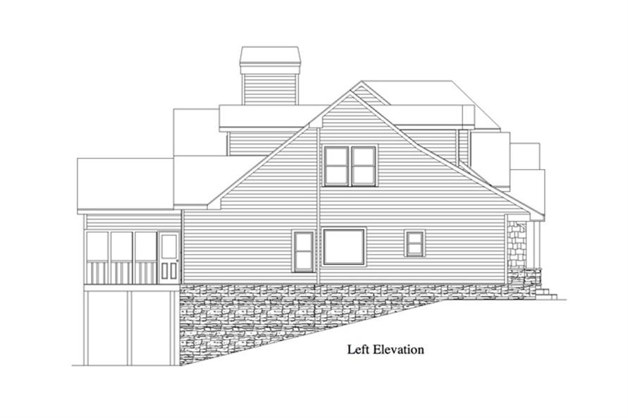 163-1069: Home Plan Left Elevation