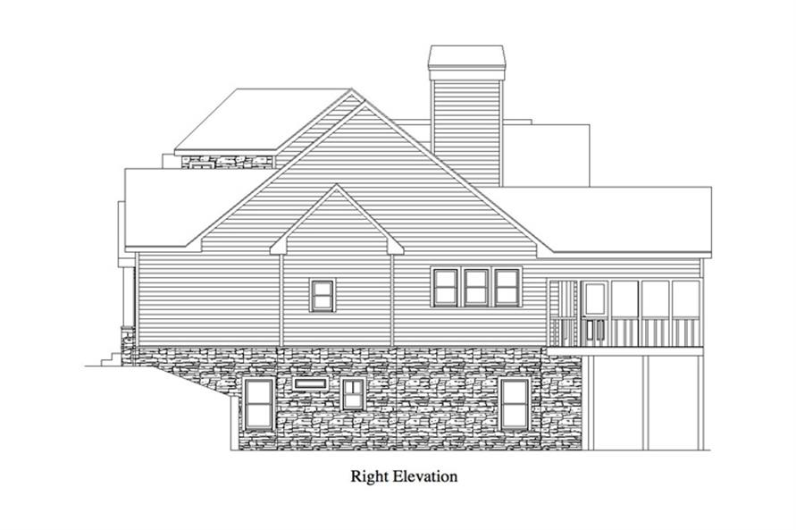 163-1069: Home Plan Right Elevation
