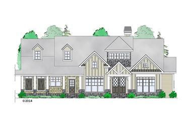 3-Bedroom, 2979 Sq Ft Craftsman Home Plan - 163-1069 - Main Exterior