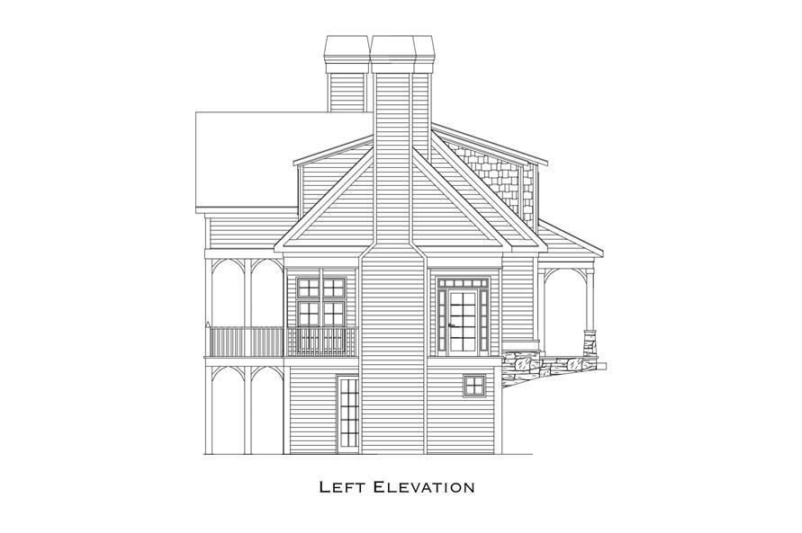 163-1070: Home Plan Left Elevation