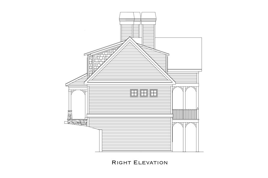 163-1070: Home Plan Right Elevation