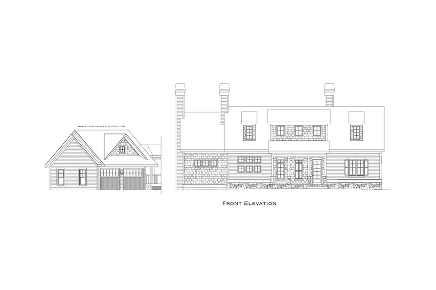 163-1070: Home Plan Rendering