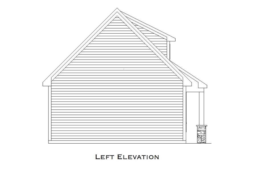 163-1072: Home Plan Left Elevation
