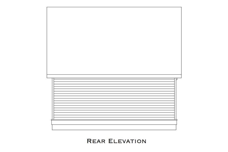 163-1072: Home Plan Rear Elevation