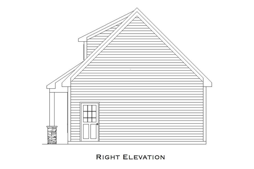 163-1072: Home Plan Right Elevation