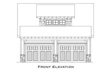 0-Bedroom, 525 Sq Ft Garage House Plan - 163-1072 - Front Exterior