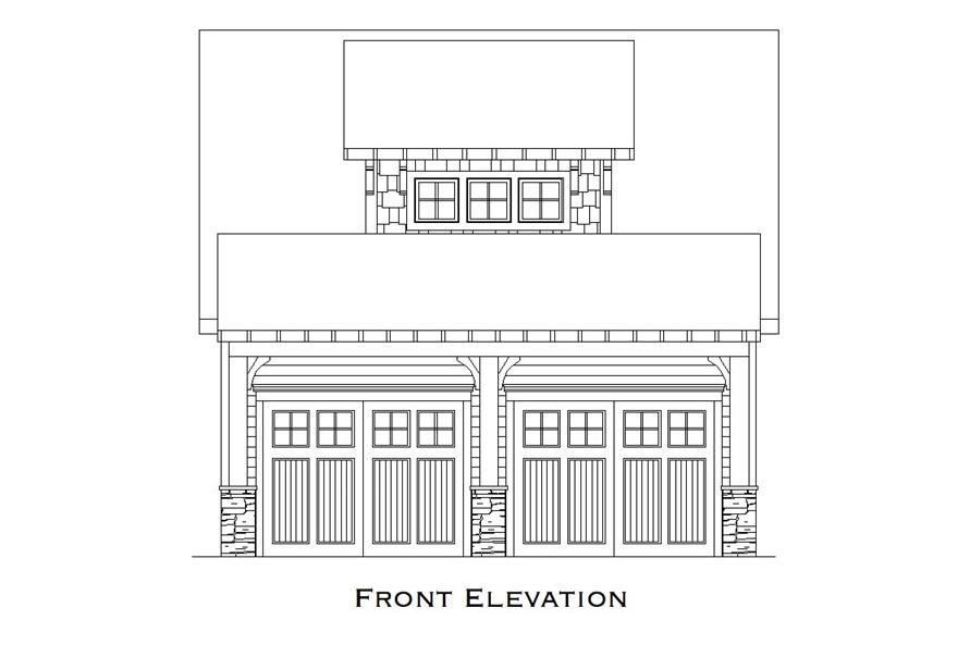 Front elevation of Garage home (ThePlanCollection: House Plan #163-1072)