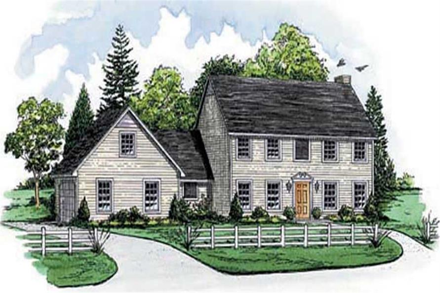 4-Bedroom, 2178 Sq Ft Colonial Home Plan - 164-1004 - Main Exterior
