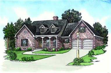 3-Bedroom, 1738 Sq Ft Ranch House Plan - 164-1007 - Front Exterior
