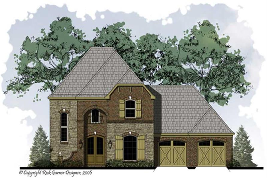 3-Bedroom, 1786 Sq Ft French House Plan - 164-1012 - Front Exterior