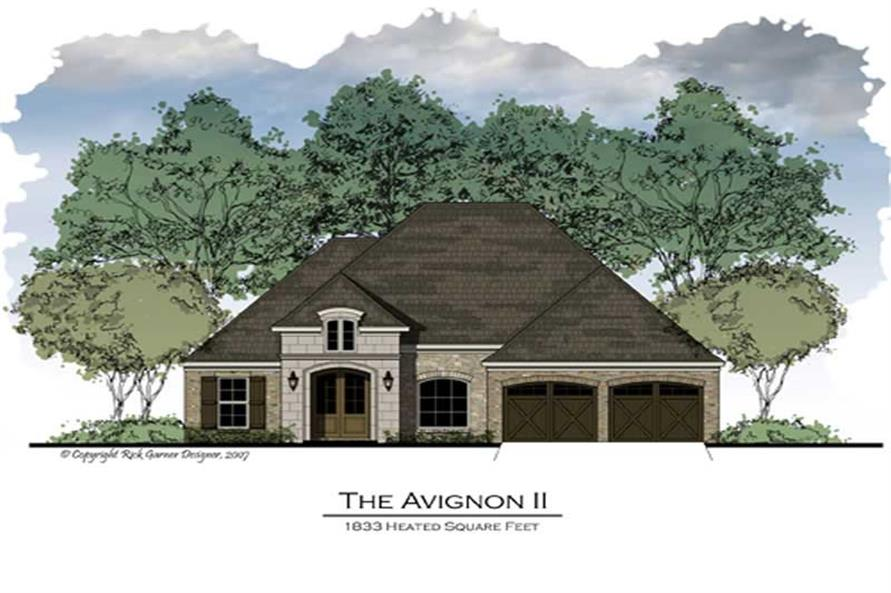 3-Bedroom, 1892 Sq Ft French House Plan - 164-1013 - Front Exterior
