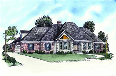 3-Bedroom, 1716 Sq Ft French House Plan - 164-1016 - Front Exterior
