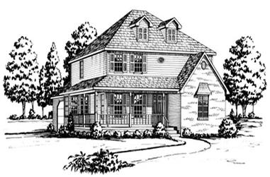 4-Bedroom, 2775 Sq Ft Country House Plan - 164-1020 - Front Exterior