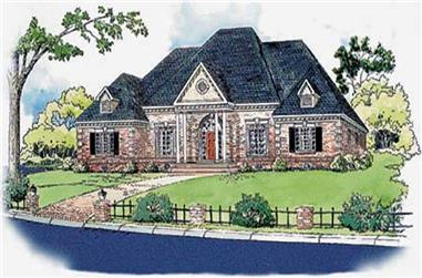 4-Bedroom, 2733 Sq Ft Georgian House Plan - 164-1021 - Front Exterior
