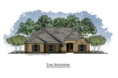 3-Bedroom, 1800 Sq Ft French Home Plan - 164-1025 - Main Exterior