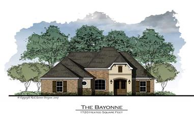 3-Bedroom, 1760 Sq Ft French House Plan - 164-1027 - Front Exterior