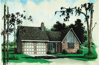 3-Bedroom, 1239 Sq Ft Country House Plan - 164-1031 - Front Exterior