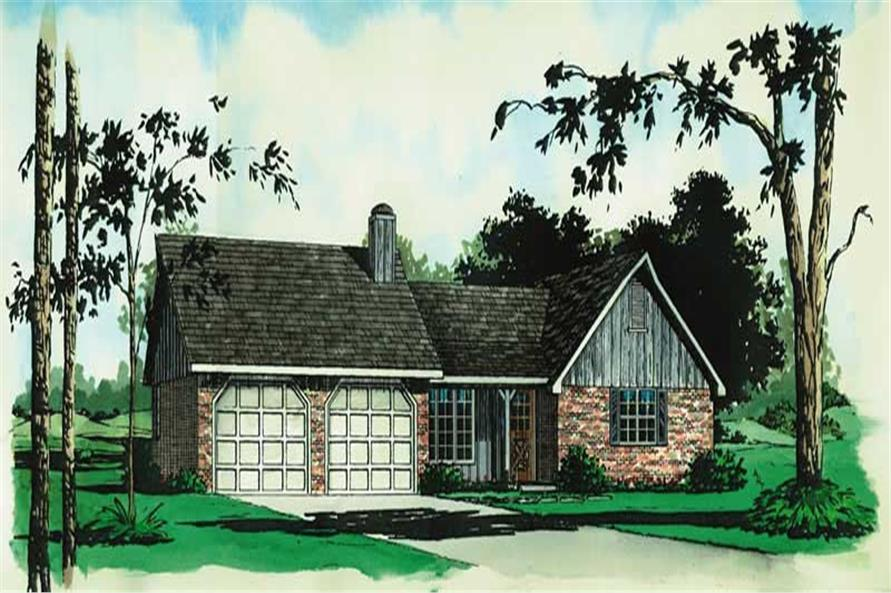 Main image for Ranch homeplans # 1740