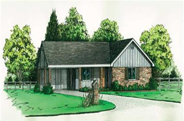 2-Bedroom, 984 Sq Ft Ranch House Plan - 164-1034 - Front Exterior