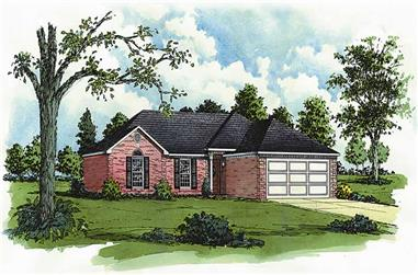 3-Bedroom, 1206 Sq Ft Georgian House Plan - 164-1035 - Front Exterior