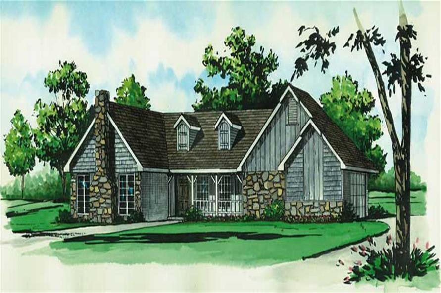 2-Bedroom, 1144 Sq Ft Country House Plan - 164-1041 - Front Exterior