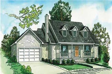 2-Bedroom, 1096 Sq Ft Country House Plan - 164-1042 - Front Exterior