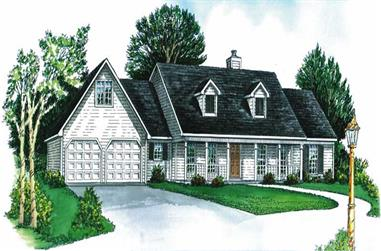 3-Bedroom, 1476 Sq Ft Cape Cod House Plan - 164-1043 - Front Exterior