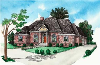 Georgian Home Plans color rendering.